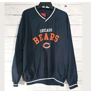 NWT Chicago Bears NFL Mens Windbreaker Size Large